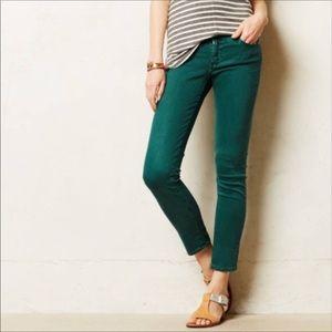 AG TEAL Stevie Ankle Slim Straight Jeans 28R